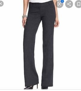 LOFT Dark Heathered Gray Marisa Trouser